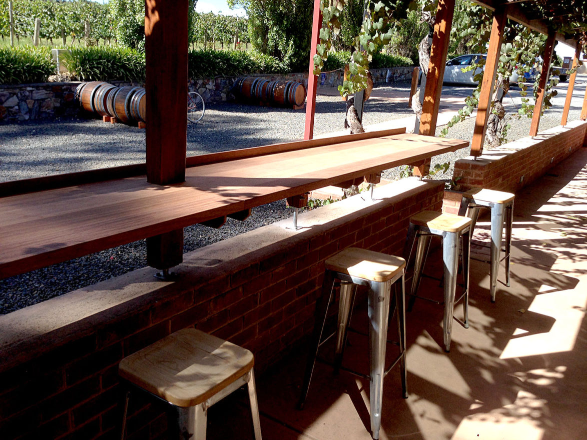 Outside Bar St Hallett Winery Outdoor Bar Juncken Builders And Joinery