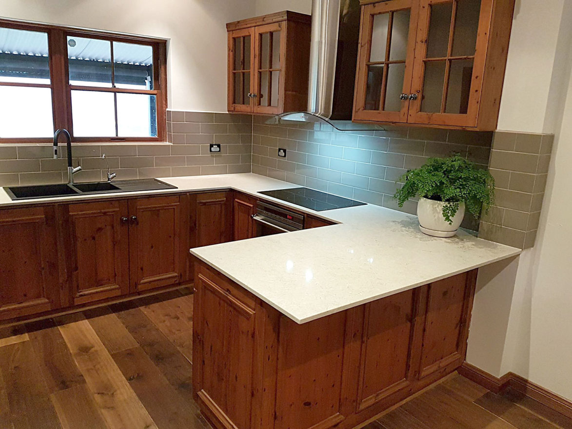 New Caesar stone bench tops to existing kitchen in Tanunda